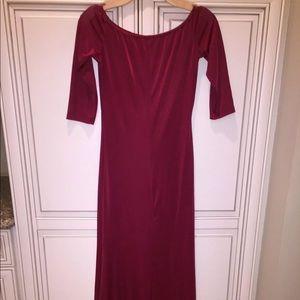 BRAND NEW W/O TAGS, WOMEN'S BURGUNDY MAXI DRESS
